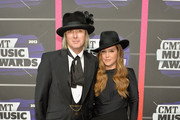 Michael Lockwood and Lisa Marie Presley attend the 2013 CMT Music awards at the Bridgestone Arena on June 5, 2013 in Nashville, Tennessee.