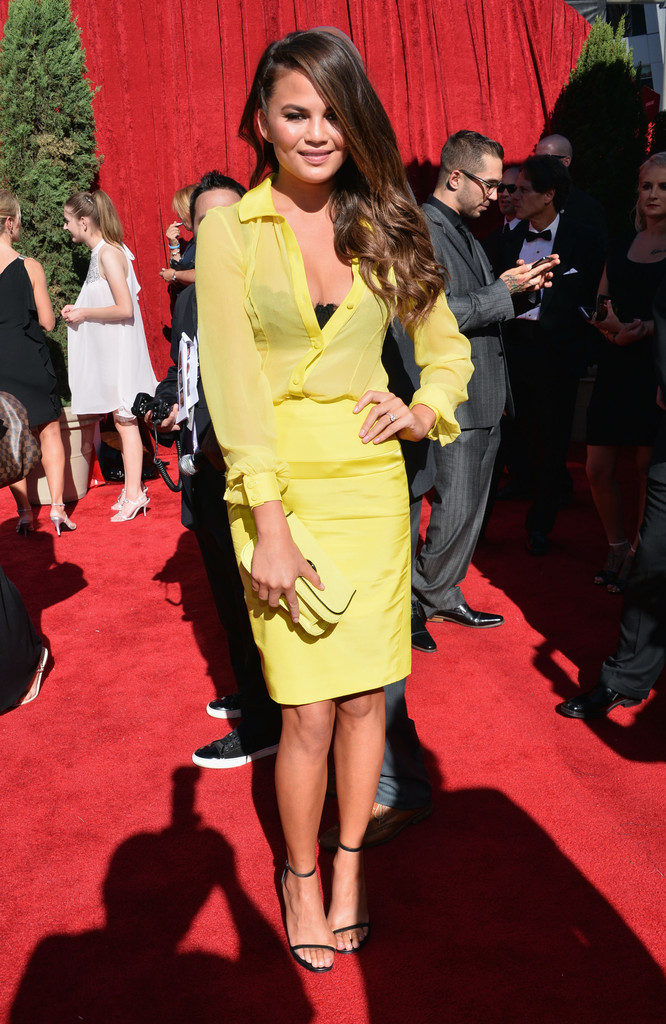 Model Christine Teigen attends The 2013 ESPY Awards at Nokia Theatre L.A. Live on July 17, 2013 in Los Angeles, California.