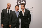 (L to R) Vice President & Publisher at GQ Chris Mitchell, GQ editor-in-chief Jim Nelson, and actor Peter Facinelli attend the 2013 GQ Gentlemen's Ball presented by BMW i, Movado, and Nautica at IAC Building on October 23, 2013 in New York City.