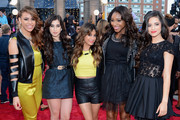 (L-R) Dinah Jane Hansen, Lauren Jauregui, Ally Brooke, Normani Kordei and Camila Cabello of Fifth Harmony attend the 2013 MTV Video Music Awards at the Barclays Center on August 25, 2013 in the Brooklyn borough of New York City.