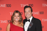Producer Nancy Juvonen and comedian Jimmy Fallon attend the 2013 Time 100 Gala at Frederick P. Rose Hall, Jazz at Lincoln Center on April 23, 2013 in New York City.