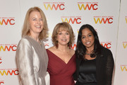 (L-R) Julie Burton, Pat Mitchell and Maya Harris attend the 2013 Women's Media Awards on October 8, 2013 in New York City.