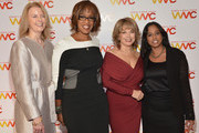 (L-R) Julie Burton, Gayle King, Pat Mitchell and Maya Harris attend the 2013 Women's Media Awards on October 8, 2013 in New York City.