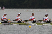 Karl Schulze, Paul Heinrich, Lauritz Schoof and Tim Grohmann of Germany compete in the Men's Quadruple Sculls semifinal during day five of the 2013 World Rowing Championships on August 29, 2013 in Chungju, South Korea.