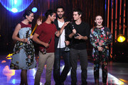 (L-R) The Cast of Teen Wolf, Crystal Reed, Tyler Posey, Tyler Hoechlin, Dylan O'Brien and Holland Roden receive the Best Ensemble Award onstage during CW Network's 2013 Young Hollywood Awards presented by Crest 3D White and SodaStream held at The Broad Stage on August 1, 2013 in Santa Monica, California.