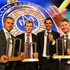 George Bailey Photos - (L-R) Aaron Finch, George Bailey, Mitchell Johnson and Michael Clarke pose with their awards during the 2014 Allan Border Medal at Doltone House on January 20, 2014 in Sydney, Australia. - Arrivals at the Allan Border Medal