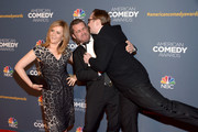 (L-R) Actress Samantha Bee, Jason Jones and John Hodgman attend 2014 American Comedy Awards at Hammerstein Ballroom on April 26, 2014 in New York City.