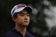 Jin Jeong of South Korea looks on during day two of the 2014 Australian PGA Championship at Royal Pines Resort on December 12, 2014 on the Gold Coast, Australia.