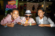 (L-R) Actors Tylen Jacob Williams, Damarr Calhoun and Sydney Park attend Fan Fest - AT&T, Geico, Poetic Jeans, Sneaker Con, Tennis, Xbox, Health And Wellness, Nickelodeon, Opening Concert, Centric Centrified during the 2014 BET Experience At L.A. LIVE on June 28, 2014 in Los Angeles, California.