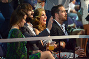 (L-R) Kelli Cashiola, Dave Haywood, Hillary Scott and Chris Tyrrell attend the 2014 CMT Music Awards at Bridgestone Arena on June 4, 2014 in Nashville, Tennessee.