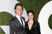 Actor Ansel Elgort (L) and actress Shailene Woodley attend the 2014 GQ Men of the Year Party at Chateau Marmont's Bar Marmont on December 4, 2014 in Hollywood, California.