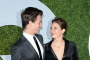 Actor Ansel Elgort (L) and actress Shailene Woodley attend the 2014 GQ Men Of The Year party at Chateau Marmont on December 4, 2014 in Los Angeles, California.
