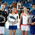 Agnieszka Radwanska Grzegorz Panfil Photos - Grzegorz Panfil and Agnieszka Radwanska of Poland pose with the runners up Plate, Alize Cornet and Jo-Wilfried Tsonga of France hold the Hopman Cup after the final's match during day eight of the Hopman Cup at Perth Arena on January 4, 2014 in Perth, Australia. - 2014 Hopman Cup -  Day 8
