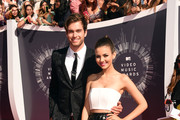 Actors Pierson Fode (L) and Victoria Justice attend the 2014 MTV Video Music Awards at The Forum on August 24, 2014 in Inglewood, California.