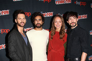 "Tom Riley, Gregg Chillin, Laura Haddock and Blake Ritson in the Press Room for ""Da Vinci's Demons"" at 2014 New York Comic Con - Day 3 at Jacob Javitz Center on October 11, 2014 in New York City."