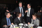 (L-R)  Producer John Sloss, Co-founder of Sony Pictures Classics Tom Bernard, director Richard Linklater, Co-President and Co-Founder of Sony Pictures Classics Michael Barker and actor Ellar Coltrane attend the 2014 New York Film Critics Circle Awards at TAO Downtown on January 5, 2015 in New York City.