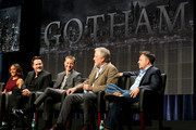 "(L-R) Actors Jada Pinkett Smith, Donal Logue, and Benjamin McKenzie, and producers Bruno Heller and Danny Cannon speak onstage at the ""Gotham"" panel during the FOX Network portion of the 2014 Summer Television Critics Association at The Beverly Hilton Hotel on July 20, 2014 in Beverly Hills, California."