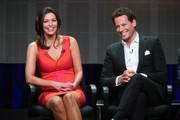 Actors Alana de la Garza and Ioan Gruffudd speak onstage at the 'Forever'' panel during the Disney/ABC Television Group portion of the 2014 Summer Television Critics Association at The Beverly Hilton Hotel on July 15, 2014 in Beverly Hills, California.