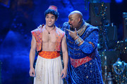 """Actor Adam Jacobs and James Monroe Iglehart perform """"Aladdin"""" onstage during the 68th Annual Tony Awards at Radio City Music Hall on June 8, 2014 in New York City."""