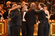 (L-R) Sophie Okonedo, James Monroe Iglehart, Jason Robert Brown, Kenny Leon, Neil Patrick Harris and Lena Hall appear onstage during the 68th Annual Tony Awards at Radio City Music Hall on June 8, 2014 in New York City.