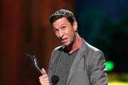 The winner of  We Love To Hate You, actor Pablo Schreiber speaks onstage at the 2014 Young Hollywood Awards brought to you by Samsung Galaxy at The Wiltern on July 27, 2014 in Los Angeles, California. The Young Hollywood Awards will air on Monday, July 28 8/7c on The CW.