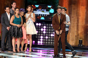 Matt McGorry, Pablo Schreiber, Dascha Polanco, Alysia Reiner, Host Kelly Oscourne, Nat Wolff, Ansel Elgort onstage at the 2014 Young Hollywood Awards brought to you by Samsung Galaxy at The Wiltern on July 27, 2014 in Los Angeles, California. The Young Hollywood Awards will air on Monday, July 28 8/7c on The CW.