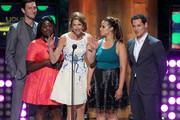 (L-R) Actors Pablo Schreiber, Danielle Brooks,Alysia Reiner, Dascha Polanco, and Matt McGorry speak onstage at the 2014 Young Hollywood Awards brought to you by Samsung Galaxy at The Wiltern on July 27, 2014 in Los Angeles, California. The Young Hollywood Awards will air on Monday, July 28 8/7c on The CW.