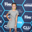 G. Hannelius in black and white stripes