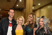 (L-R) Actors Pablo Schreiber, Taryn Manning, Laverne Cox and Dascha Polanco attend the 2014 iHeartRadio Music Festival at the MGM Grand Garden Arena on September 20, 2014 in Las Vegas, Nevada.