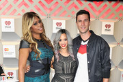 (L-R) Actors Laverne Cox, Dascha Polanco, and Pablo Schreiber attend the 2014 iHeartRadio Music Festival at the MGM Grand Garden Arena on September 20, 2014 in Las Vegas, Nevada.