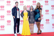 (L-R) Actors Pablo Schreiber, Taryn Manning, Dascha Polanco and Laverne Cox attend the 2014 iHeartRadio Music Festival at the MGM Grand Garden Arena on September 20, 2014 in Las Vegas, Nevada.