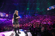 Singer Meghan Trainor speaks onstage during the 2014 iHeartRadio Music Festival at the MGM Grand Garden Arena on September 20, 2014 in Las Vegas, Nevada.