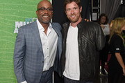 Singer Darius Rucker and Noah Galloway attend the 2015 CMT Music awards at the Bridgestone Arena on June 10, 2015 in Nashville, Tennessee.