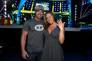 Former United States Army soldier Noah Galloway (L) and Jamie Boyd attend the 2015 CMT Music Awards Rehearsals Day 2 at the Bridgestone Arena on June 9, 2015 in Nashville, Tennessee.