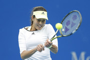Ana Ivanovic of Serbia returns a shot against Timea Bacsinszky of Switzerland during their Women's singles semi-finals match on day 8 of the 2015 China Open at the China National Tennis Centre on October 10, 2015 in Beijing, China.