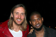 DJ David Guetta (L) and singer Usher attend day 3 of the 2015 Coachella Valley Music & Arts Festival (Weekend 1) at the Empire Polo Club on April 12, 2015 in Indio, California.