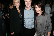 (L-R) Actress Sharon Stone, Co-President of the Gersh Agency David Gersh and actress Patricia Heaton attend the 2015 Gersh Upfronts Party at Asellina at the Gansevoort on May 12, 2015 in New York City.