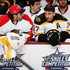 Roberto Luongo Patrice Bergeron Photos - Roberto Luongo #1 of the Florida Panthers and Team Toews talks with Patrice Bergeron #37 of the Boston Bruins and Team Toews during the Honda NHL Breakaway Challenge event of the 2015 Honda NHL All-Star Skills Competition at Nationwide Arena on January 24, 2015 in Columbus, Ohio. - 2015 Honda NHL All-Star Skills Competition