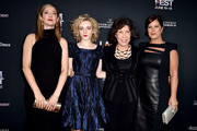 "(L-R) Actresses Judy Greer, Julia Garner, Lily Tomlin and Marcia Gay Harden arrive at the Los Angeles Film Festival opening night premiere of Sony Pictures Classics' ""Grandma"" at the Regal Cinemas L.A. Live on June 10, 2015 in Los Angeles, California."