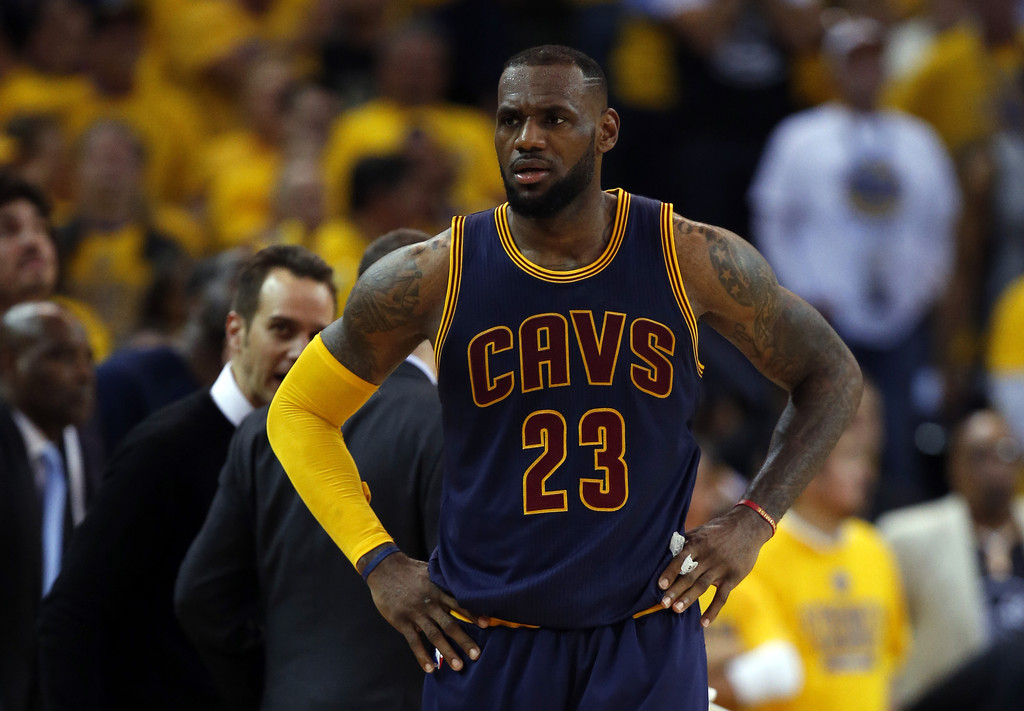 LeBron James Photos Photos - 2015 NBA Finals - Game One ...