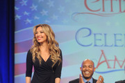 Singer Thalia (L) and former Yankee player Mariano Rivera speak onstage during the Naturalization Ceremony at Festival PEOPLE En Espanol 2015 presented by Verizon at Jacob Javitz Center on October 18, 2015 in New York City.