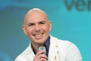 Rapper Pitbull speaks onstage during Festival PEOPLE En Espanol 2015 presented by Verizon at Jacob Javitz Center on October 18, 2015 in New York City.