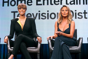 Models Tyra Banks (L) and Chrissy Teigen speak onstage during the 'The FAB Life' panel discussion at the ABC Entertainment portion of the 2015 Summer TCA Tour at The Beverly Hilton Hotel on August 4, 2015 in Beverly Hills, California.