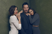 Keanu Reeves seemed okay to share the spotlight with his 'Knock Knock' co-stars. - What Happens When You Make Famous People Pose at Sundance