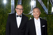 Actor George Takei (R) and Brad Takei attend the 2015 Tony Awards  at Radio City Music Hall on June 7, 2015 in New York City.