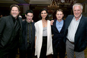 (L-R) Actors Donal Logue, Robin Lord Taylor, Morena Baccarin, Ben McKenzie and writer/executive producer Bruno Heller attend the FOX portion of the 2015 Winter TCA Tour at the Langham Hotel on January 17, 2015 in Pasadena, California.