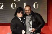 EVP, Membership John Titta presents composer Timbaland the Top Network Series award for 'Empire' onstage during the 2016 ASCAP Screen Music Awards at The Beverly Hilton Hotel on March 24, 2016 in Beverly Hills, California.