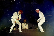 (L-R) Recording artists Walshy Fire, Jillionaire and Diplo of Major Lazer perform onstage during day 3 of the 2016 Coachella Valley Music & Arts Festival Weekend 2 at the Empire Polo Club on April 24, 2016 in Indio, California.
