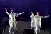 Musicians Jillionaire of Major Lazer, special guest M??, Walshy Fire and Diplo of Major Lazer perform onstage during day 3 of the 2016 Coachella Valley Music & Arts Festival Weekend 2 at the Empire Polo Club on April 24, 2016 in Indio, California.