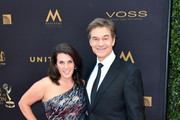 Dr. Mehmet Oz and Lisa Oz arrive at the 43rd Annual Daytime Emmy Awards at the Westin Bonaventure Hotel on May 1, 2016 in Los Angeles, California.